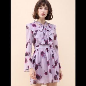Chicwish chiffon bell dress